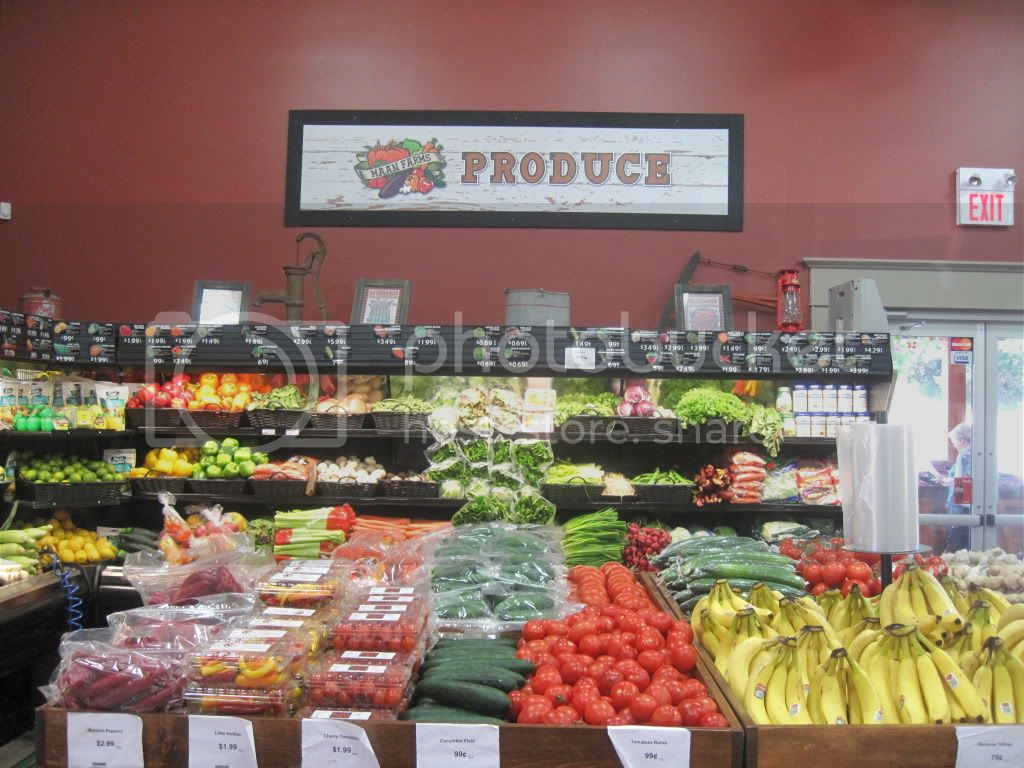 Produce Section at Maan Farms