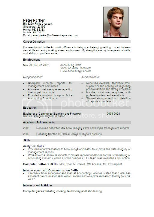 FakePeterParkerResume Resume Writing Workshop: How to Write a Good Resume